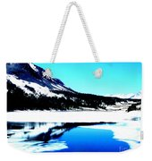 Shiny Snow Magic On Lake Weekender Tote Bag