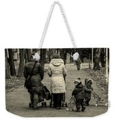 Small Child Looking Backward Weekender Tote Bag