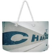 Snowy Weather Conditions Around Charlotte Airport In North Carol Weekender Tote Bag