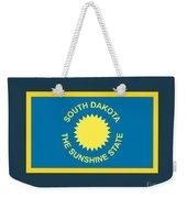 South Dakota Flag Weekender Tote Bag