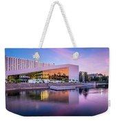 Spokane Washington City Skyline And Convention Center Weekender Tote Bag