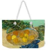 Still Life Of Oranges And Lemons With Blue Gloves Weekender Tote Bag