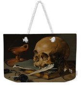 Still Life With A Skull And A Writing Quill Weekender Tote Bag