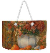 Still Life With Flowers And Prickly Pears Weekender Tote Bag