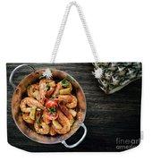 Stir Fry Prawns In Spicy Asian Pineapple And Herbs Sauce Weekender Tote Bag