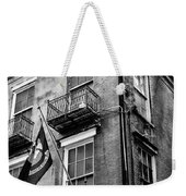 2 Story Building New Orleans Black White  Weekender Tote Bag