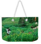 Stream And Alpine Flowers, Ouray Weekender Tote Bag
