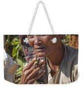 Street Portrait Of A Smoking Woman Weekender Tote Bag