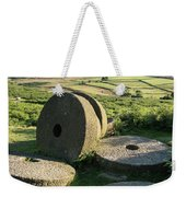 Summer Landscape Image Of Millstones On Top Of Stanage Edge In P Weekender Tote Bag