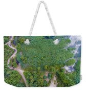 Summer Time Lake And Green Forest, In Poland Lanscape.  Weekender Tote Bag