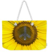 Sunflower Peace Sign Weekender Tote Bag
