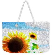 Sunflowers Abstract Weekender Tote Bag