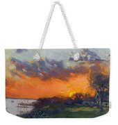 Sunset At Gratwick Waterfront Park Weekender Tote Bag