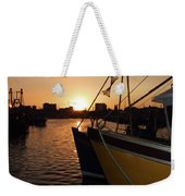 Sunset Over Sutton Harbour Plymouth Weekender Tote Bag