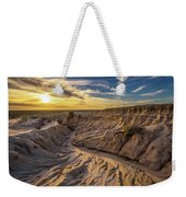 Sunset Over Walls Of China In Mungo National Park, Australia Weekender Tote Bag
