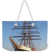 Tall Ship Anchored Off Penzance Weekender Tote Bag