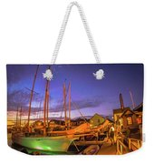 Tall Ships And Yahts Moored In Newport Harbor Weekender Tote Bag