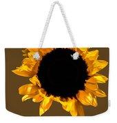 Sunflower Stretching On Brown Weekender Tote Bag