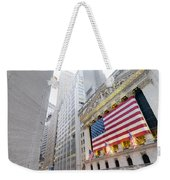 The Facade Of The New York Stock Weekender Tote Bag