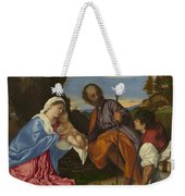 The Holy Family With A Shepherd Weekender Tote Bag