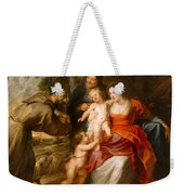 The Holy Family With Saints Francis And Anne And The Infant Saint John The Baptist Weekender Tote Bag