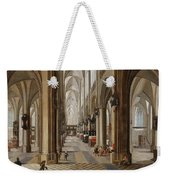 The Interior Of The Onze Lieve Vrouwekerk In Antwerp Weekender Tote Bag