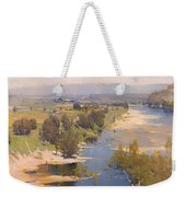 The Purple Noon's Transparent Might Weekender Tote Bag