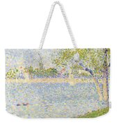 The Seine Seen From La Grande Jatte Weekender Tote Bag