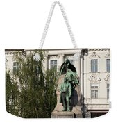 The Statue Of France Preseren And His Muse Weekender Tote Bag