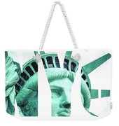 The Statue Of Liberty At New York City  Weekender Tote Bag