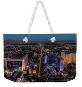 the Strip at night, Las Vegas Weekender Tote Bag