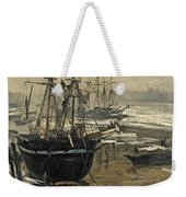 The Thames In Ice Weekender Tote Bag