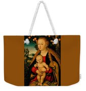 The Virgin And Child Under An Apple Tree Weekender Tote Bag