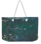 The Water Lilies, Green Reflections Weekender Tote Bag
