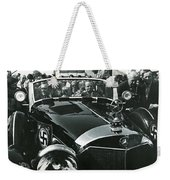 Tom Barrett And Family With High Bidder  Earl Clark At $153,000 Of Adolf Hitlers Mercedes Benz 770k Weekender Tote Bag