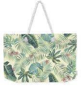 Tropical Leaves Pattern Weekender Tote Bag