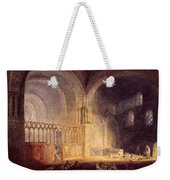 Turner Joseph Mallord William Transept Of Ewenny Prijory Glamorganshire Joseph Mallord William Turner Weekender Tote Bag