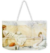 Two Classical Figures Reclining Henry Ryland Weekender Tote Bag
