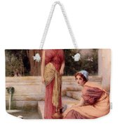 Two Classical Maidens And A Swan Henry Ryland Weekender Tote Bag