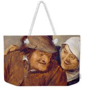 Two Peasants With A Glass Of Wine Weekender Tote Bag