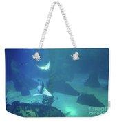 Underwater Blue Background Weekender Tote Bag