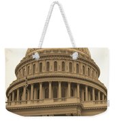 United States Capitol Building Sepia Weekender Tote Bag