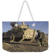 U.s. Army Soldiers Provide Security Weekender Tote Bag
