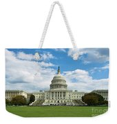 Us Capitol Washington Dc Negative Weekender Tote Bag