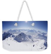View From Summit Of Valluga, St Saint Anton Am Arlberg Austria Weekender Tote Bag
