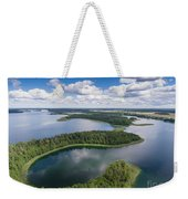 View Of Small Islands On The Lake In Masuria And Podlasie  Weekender Tote Bag