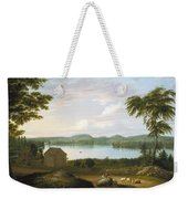 View Of Springfield On The Connecticut River Weekender Tote Bag