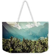 View Of Tatra Mountains From Hiking Trail. Poland. Europe.  Weekender Tote Bag