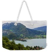 Village Of Talloires On The Banks Of Lake Annecy Weekender Tote Bag