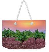 Vineyards At Pink Sunset Weekender Tote Bag